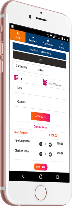 Mentor POS mobile app screen